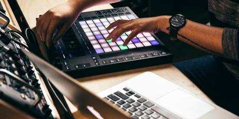 Creating music with a MIDI controller
