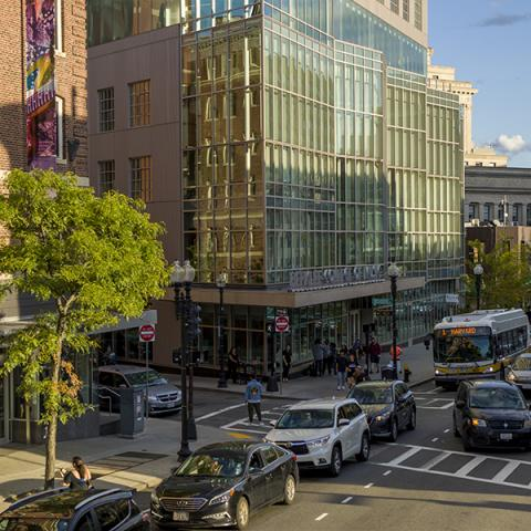 Massachusetts Avenue on the Boston campus