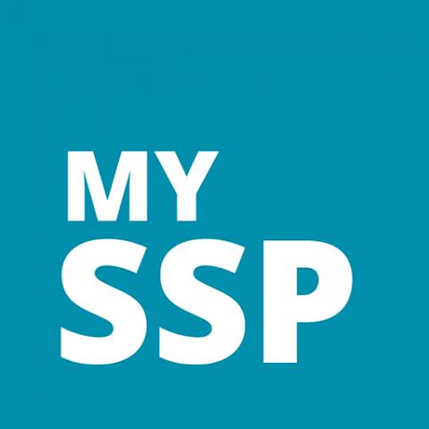 Screenshot from My SSP website