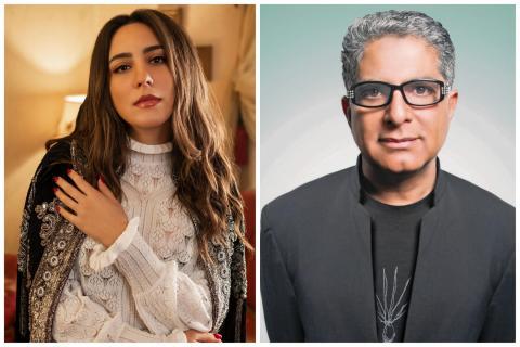 Mayssa Karaa and Deepak Chopra