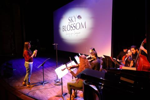 Berklee Contemporary Symphony Orchestra session for Sky Blossom
