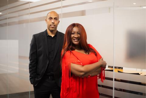 Tonya Butler and Christopher Wares
