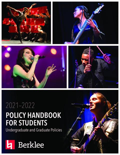 Cover of Berklee's 2021–2022 Policy Handbook for Students